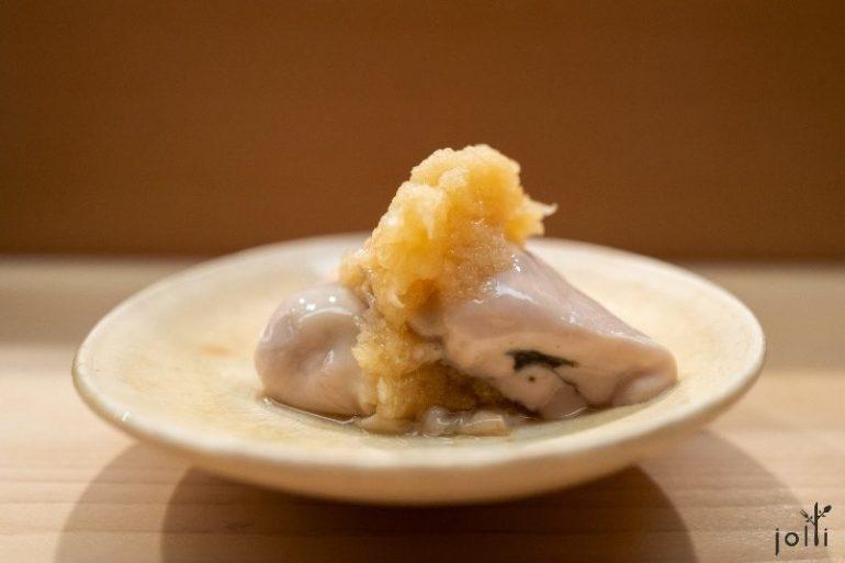 牡蠣配蘿蔔泥