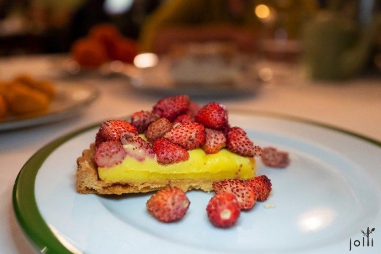 野生草莓英式蛋奶醬撻餅