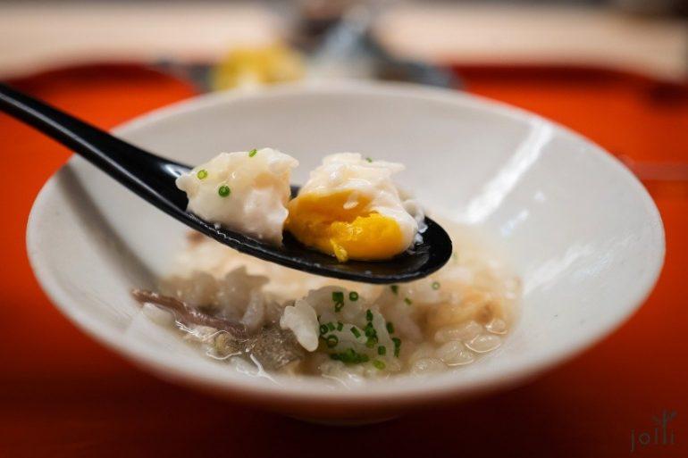 河豚鹌鹑蛋粥