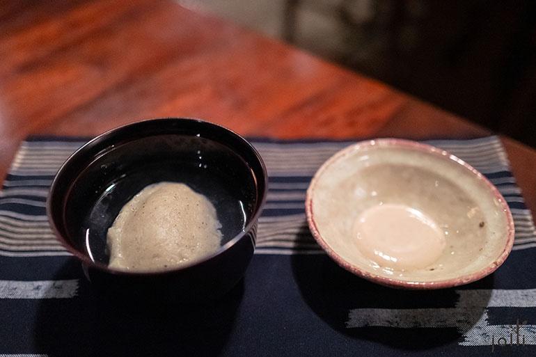 蕎麥糕配核桃露