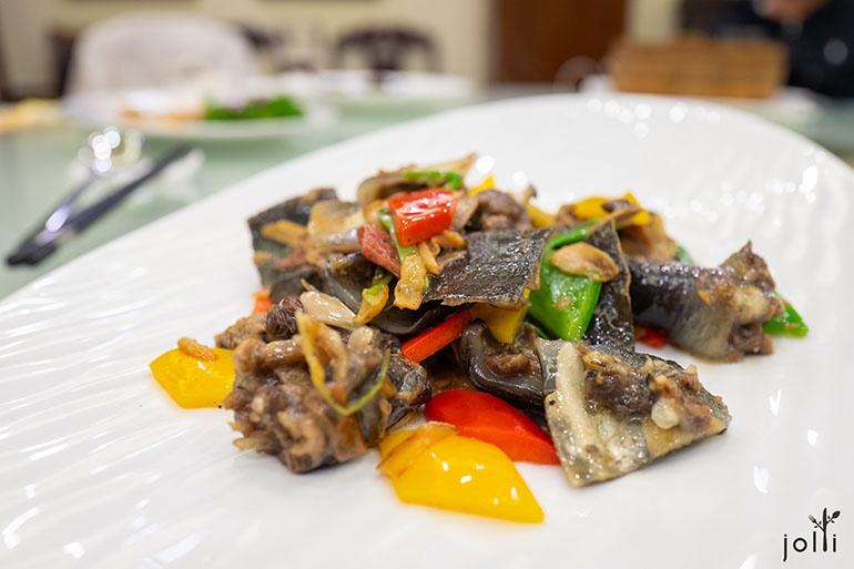 生炒菜花甲鱼