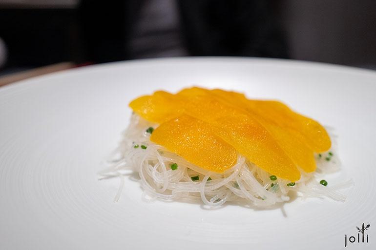 新竹米粉配乌鱼子