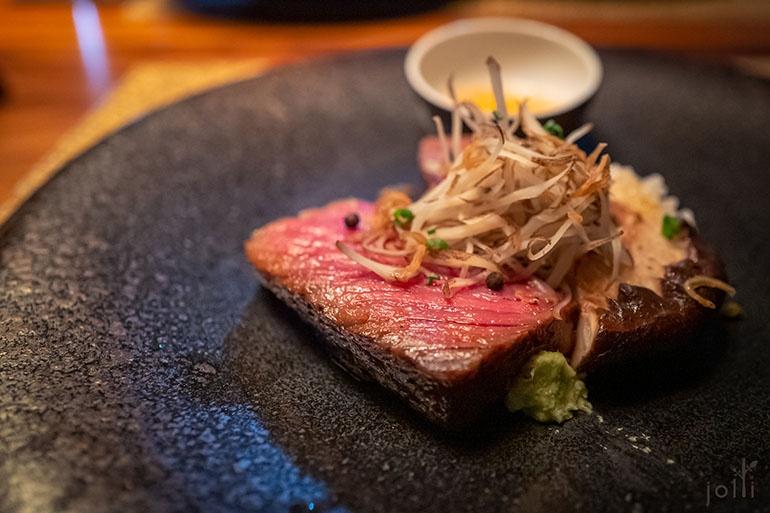 松阪牛的西冷及田島牛的牛柳壽喜燒