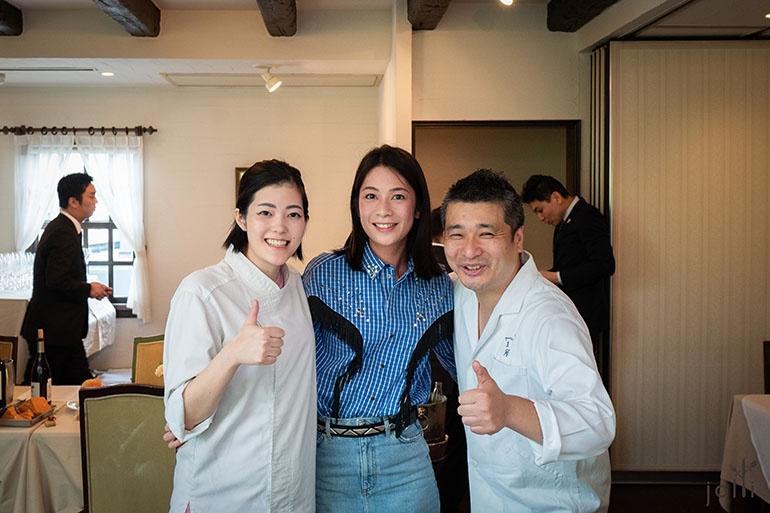 莊司夏子(左)和山岸博隆(右)