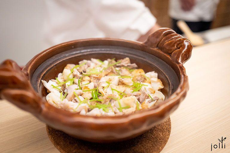 炭烤鲷鱼做成锅饭