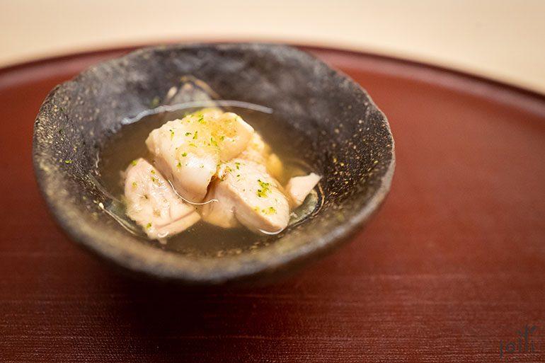 煮鳢鱼子、鳢鱼鳔和星蝶肝