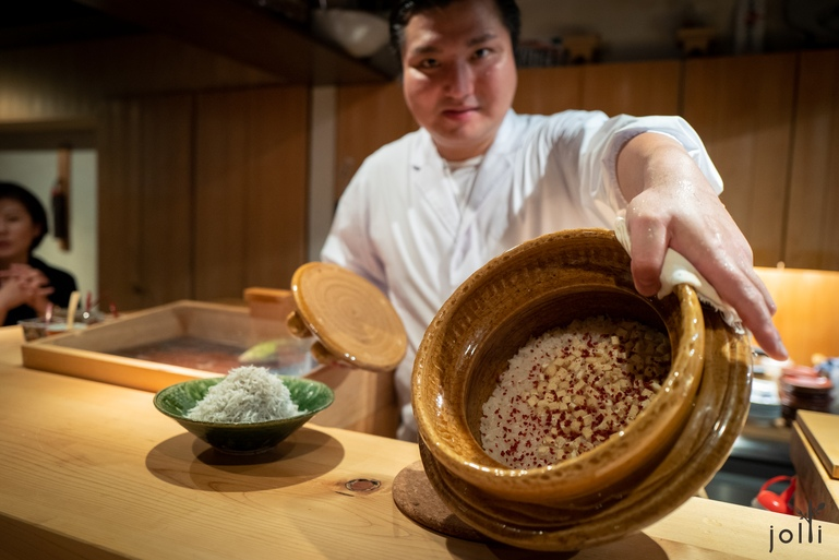 银鱼跟干梅的锅饭