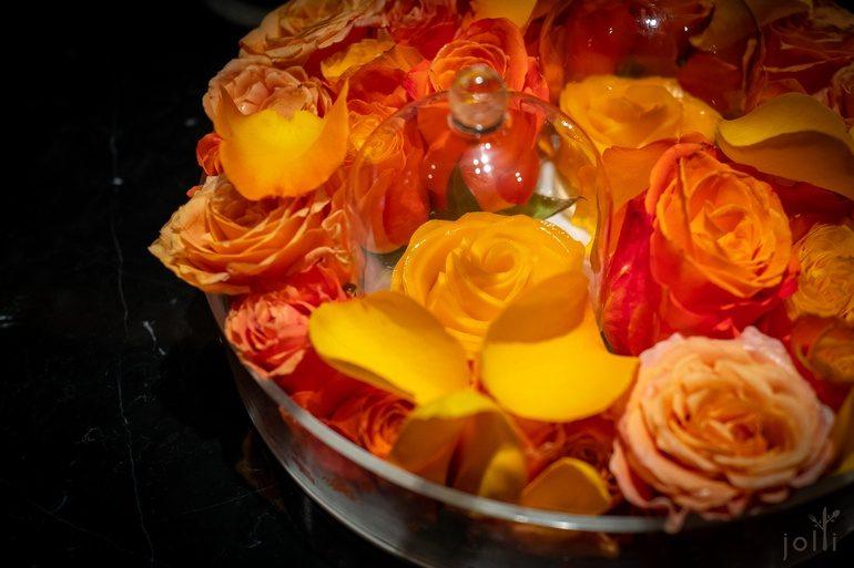 玫瑰芒果奶油挞饼