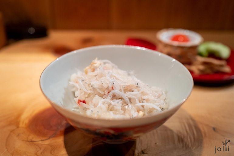银鱼及干梅饭