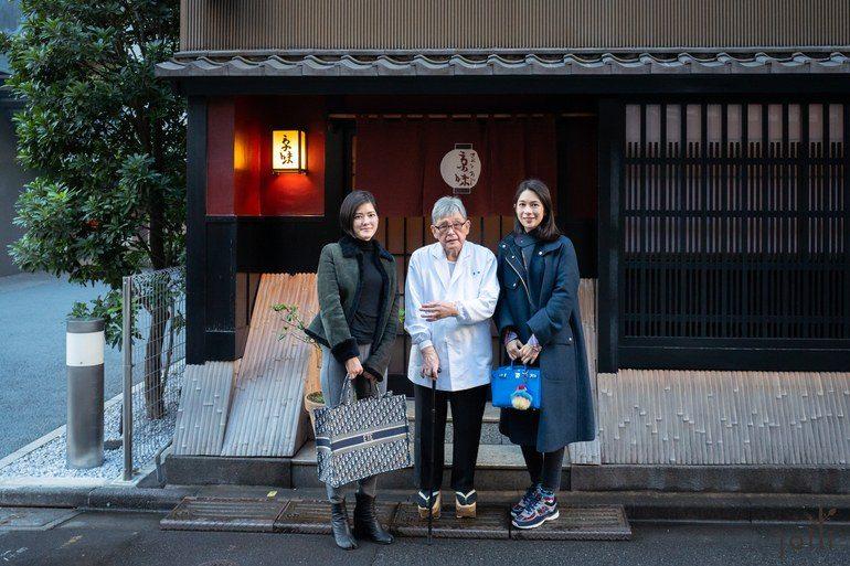 18年12月15日跟「京味」主人西健一郎(中)及「été」主厨庄司夏子合影(左)