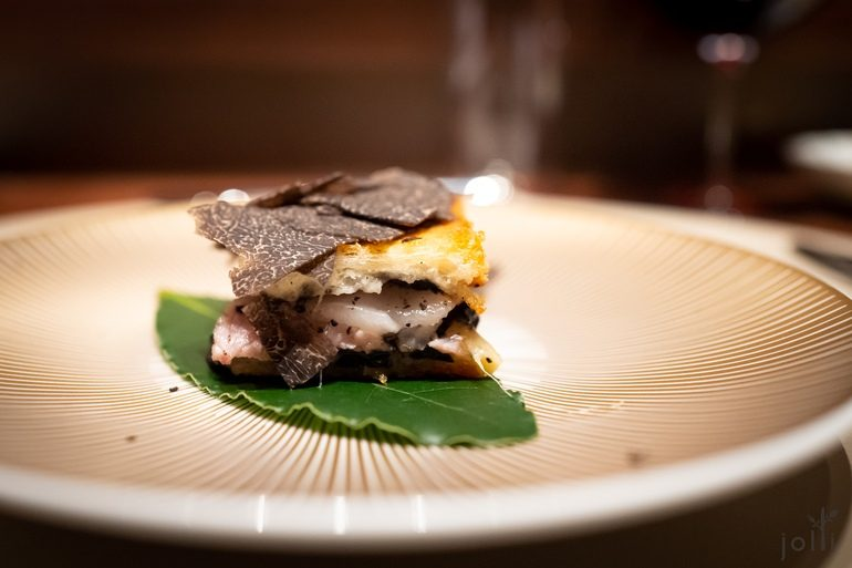 黑松露及自家火腿的法式三明治