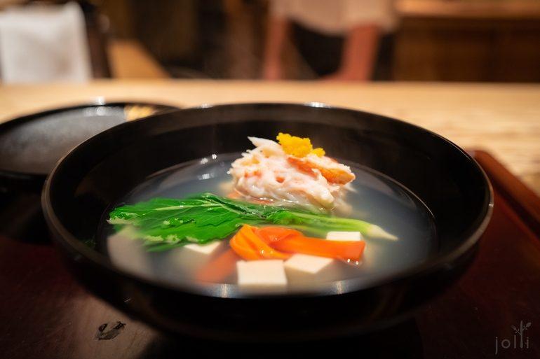 松叶蟹汤品